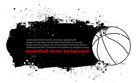 Grunge Basketball Poster Vector
