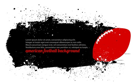 grunge football: Grunge Football Poster Illustration