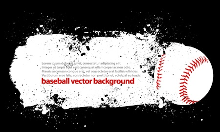 baseball game: Dirty Baseball Illustration