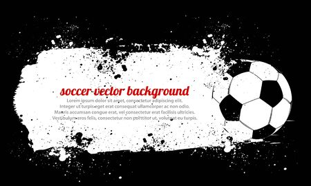 Dirty Soccer Ball Vector