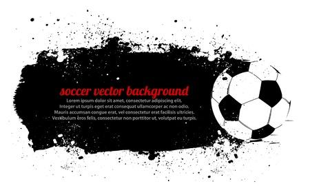 pelota de futbol: Grunge Background Soccer Ball Vectores