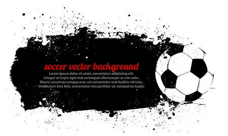 Grunge Soccer Ball Background Stock Vector - 14665096