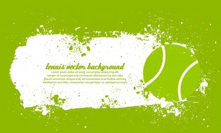 Grunge Tennis Vector