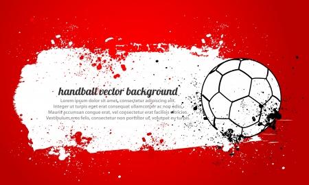 handball: Grunge Handball Illustration