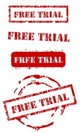 Free trial stamp set Vector