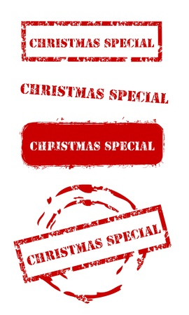 Christmas special rubber stamp set Vector
