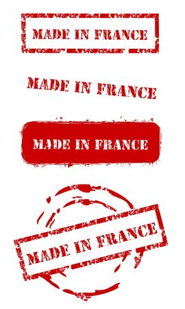 Grunge Made in France Timbres Banque d'images - 14891005