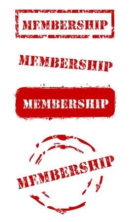 Grunge Membership Stamps Stock Vector - 14891007