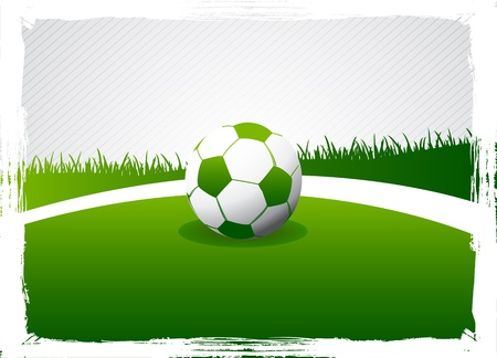 soccer grass field Vector