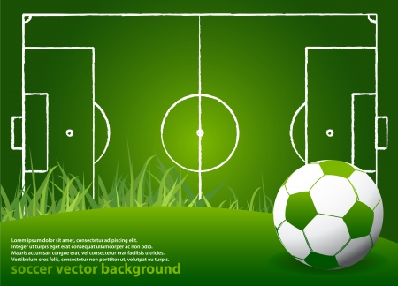 Soccer Strategy Background with Ball Stock Vector - 14891008