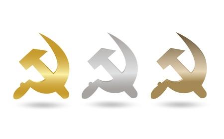USSR Symbol Tag Set Vector
