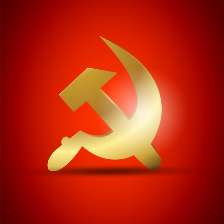 Golden USSR Symbol Vector