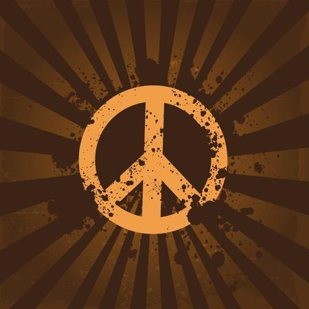 60s hippie: Grunge peace symbol