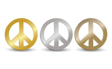 Peace Symbol Tag Set Vector