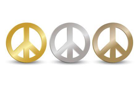 Peace Symbol Tag Set Vector