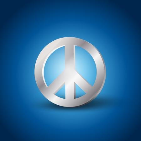 Silver Peace symbol Vector