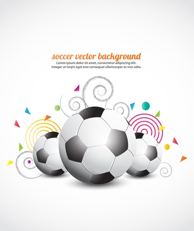 football party: Abstract creative soccer background Illustration