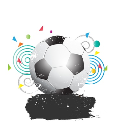Grunge Soccer illustration Vector