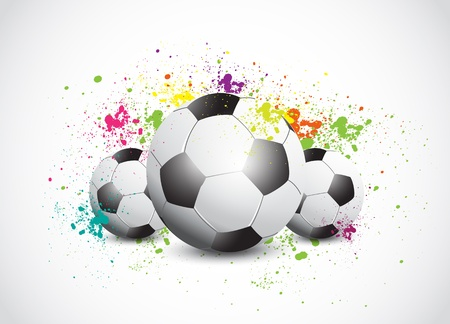 soccerball: Colorful Grunge Football