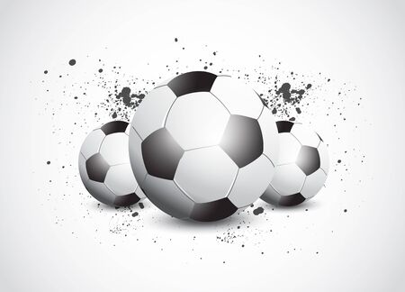Grunge Football Soccer Vector