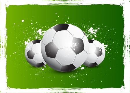 bannière football: Grunge Soccer Football Illustration