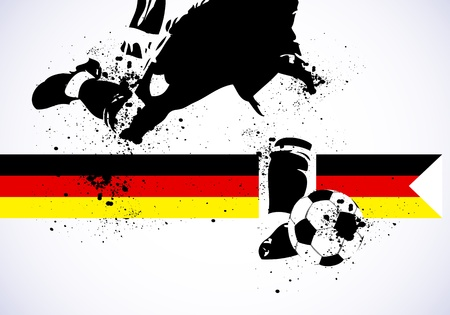 German Soccer Stock Vector - 15219470
