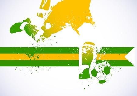 dirty football: Brazil Soccer Illustration