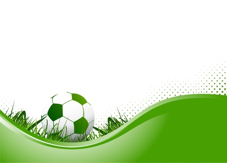 soccer kick: soccer background Illustration
