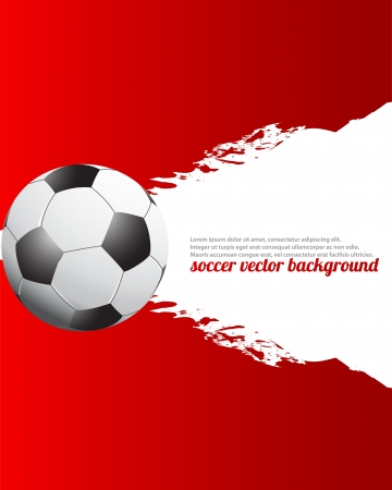 bannière football: Grunge Football Soccer Affiche