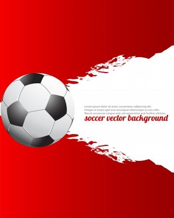 banni�re football: Grunge Football Soccer Affiche