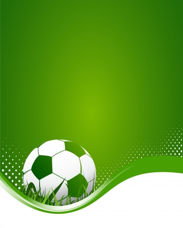 Green Football Background Vector