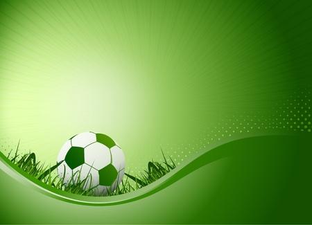 campeonato de futbol: f�tbol fondo del cartel Foto de archivo