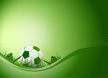 ballsport: soccer poster background Stock Photo