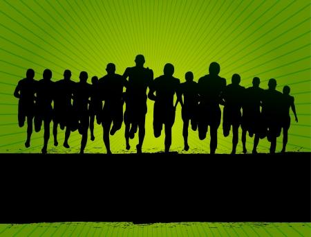 running race: marathon race