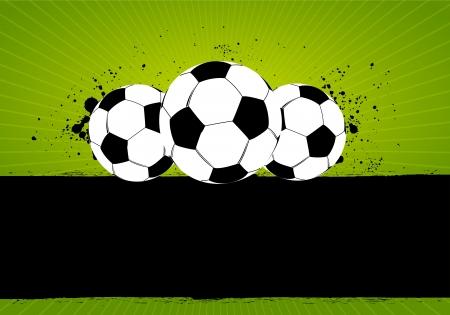 Grunge Soccer Football Vector