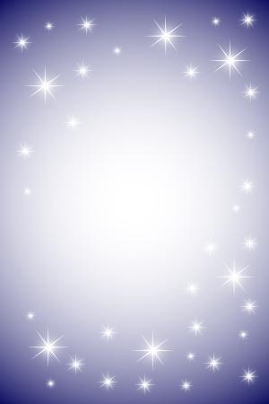 Twinkling stars at night