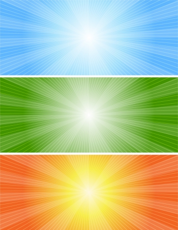 lineas horizontales: Banners Abstractos Set Vectores