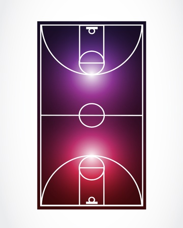 abstract glowing basketball court Vector