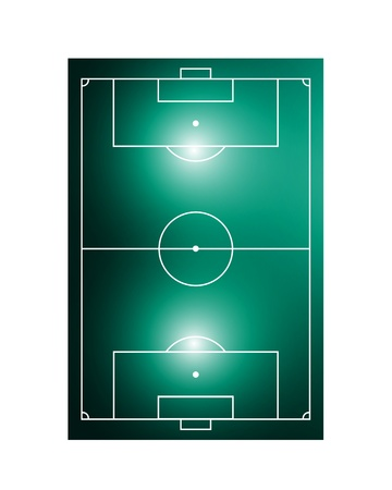 abstract glowing soccer field Vector