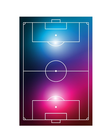 abstract soccer field Stock Vector - 15579207