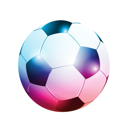 3D abstract football ball Stock Vector - 15579210