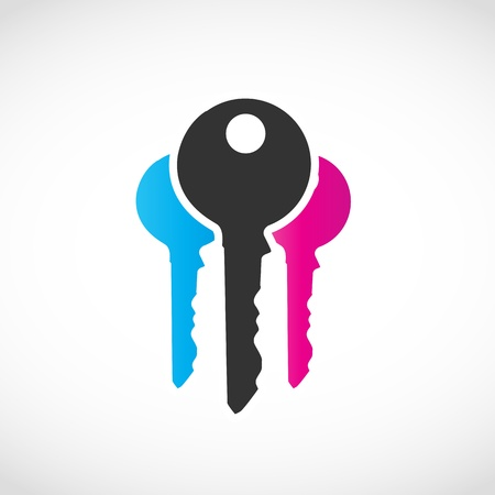 Business Key Logo Vector