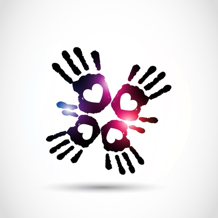 abstract love hand Vector