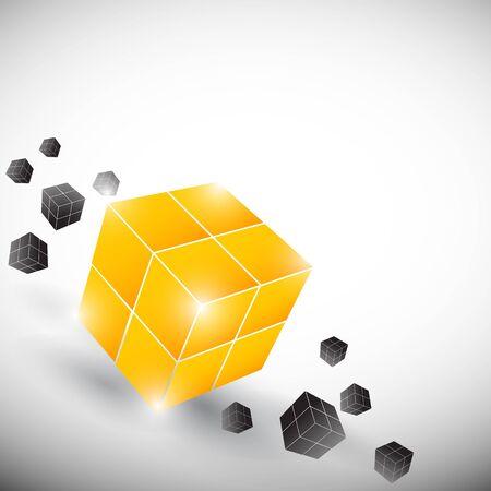 cube concept design Vector
