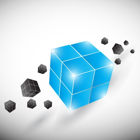 building trade: abstract creative business cubes