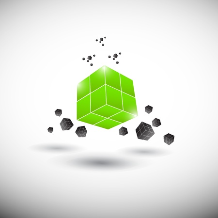 cube logo illustration Vector
