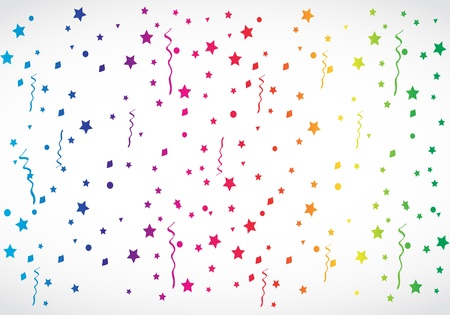 rainbow color star: abstract colorful confetti