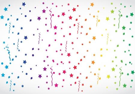 konfeti: soyut renkli konfeti Çizim