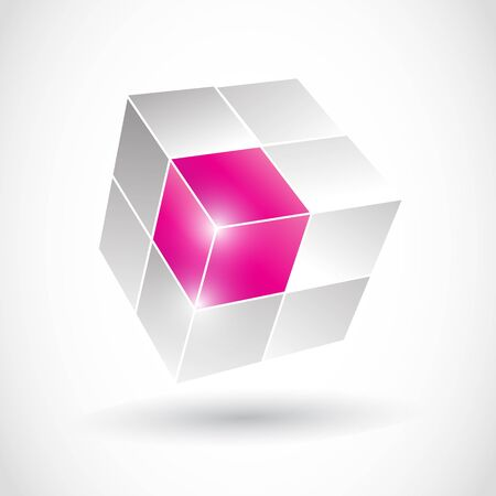 Abstract 3D Solution Cube Vector