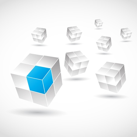 connection block: Abstract Cubes Illustration